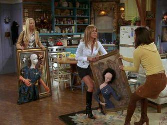 Phoebe's artworks for Monica and Rachel