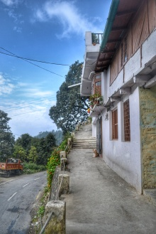 The path uphill to the homestay