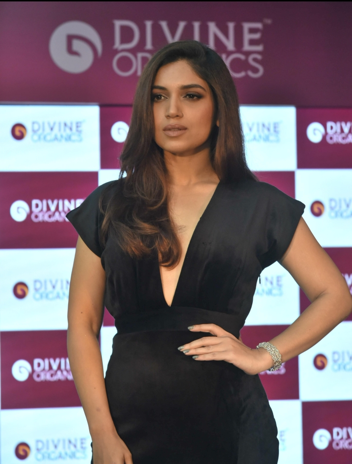 Bhumi Pednekar at Divine Organics launch